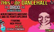 Folder do Evento: 7Hrs de Dancehall Aquecimento Massivo