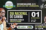 Folder do Evento: Dia Nacional do Samba: Artistas do Samba