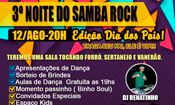 Folder do Evento: Noite do Samba Rock - Dia dos Pais