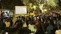 Cinema ao ar livre leva 250 pessoas ao Parque Chico Mendes